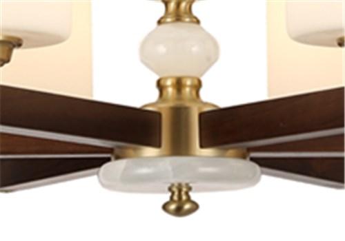 伊美特-新中式铜+木吊灯Y96050