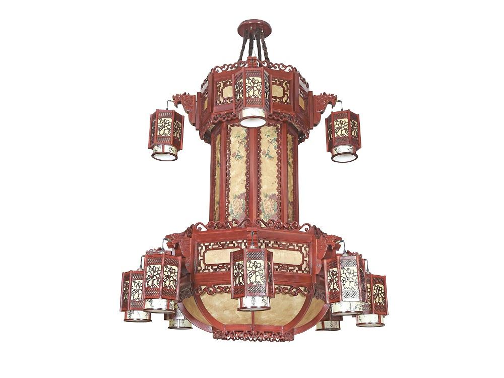 伊美特-中式大型吊灯M8558/8+4