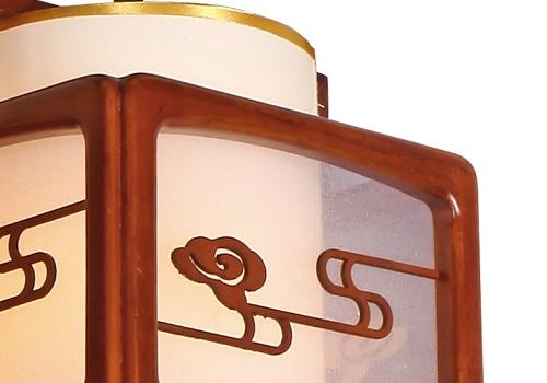 伊美特-传统中式橡木吊灯茶楼灯M8520