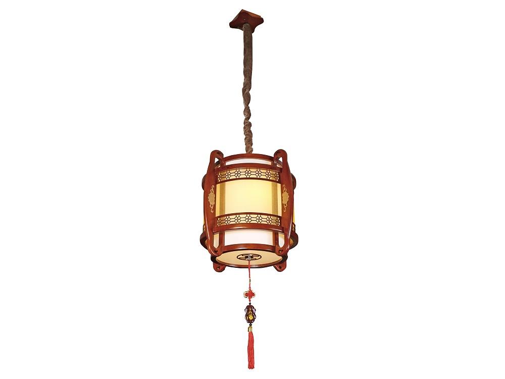 伊美特-传统中式橡木吊灯茶楼灯M8503小