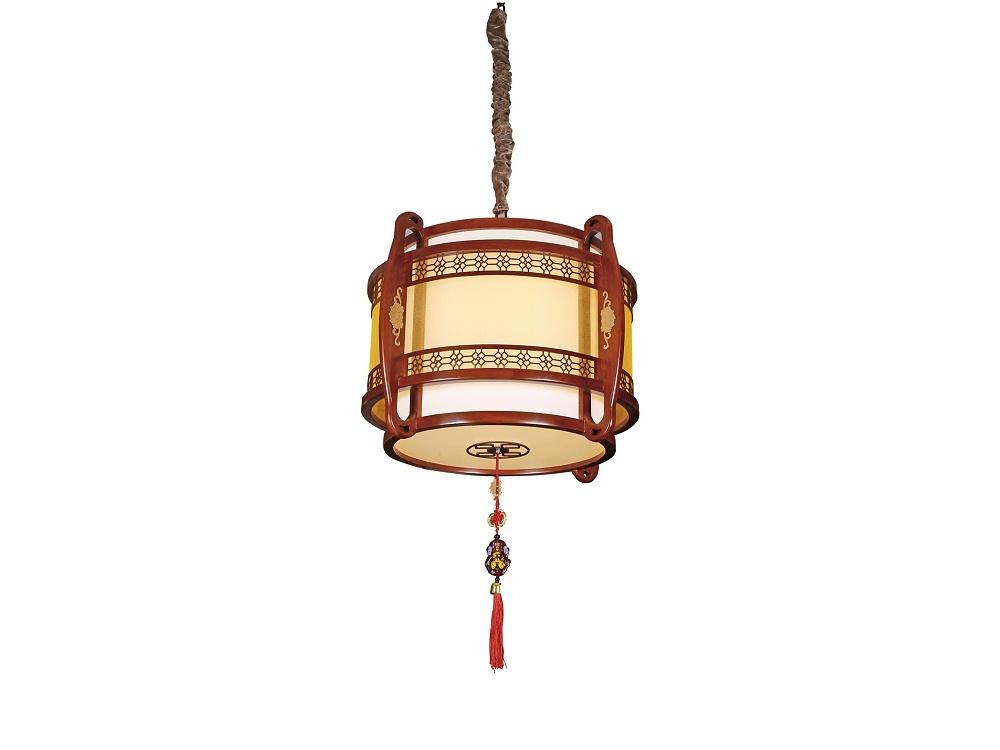 伊美特-传统中式橡木吊灯茶楼灯M8503大