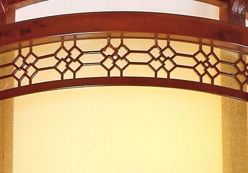 伊美特-传统中式橡木吊灯茶楼灯M8503