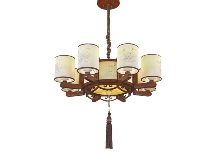 伊美特-传统中式橡木吊灯茶楼灯M8553-8