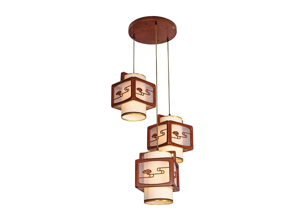 伊美特-传统中式橡木吊灯茶楼灯M8520/3