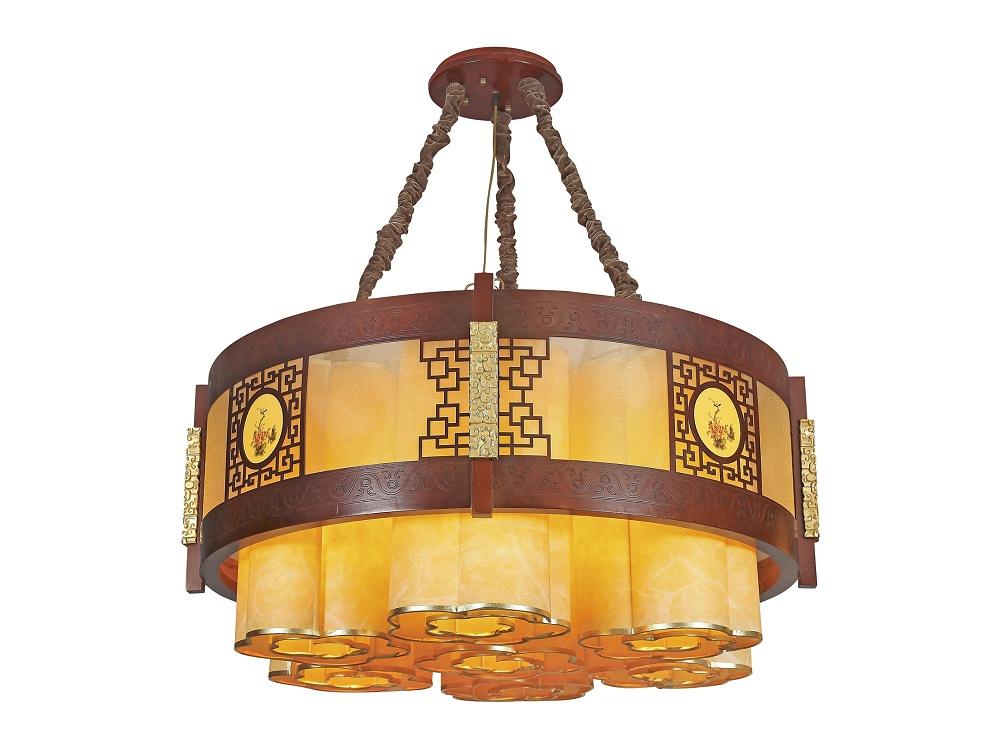 伊美特-传统中式樟子松吊灯M8553