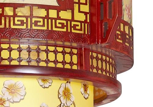伊美特-传统中式樟子松吊灯M8515