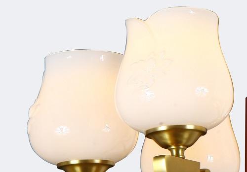 新中式铜+木别墅大吊灯Y96029