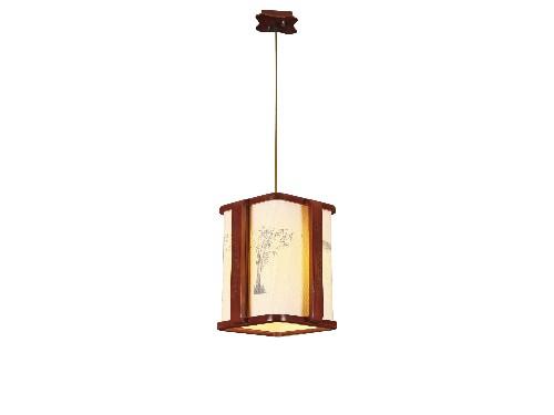 伊美特-传统中式橡木吊灯茶楼灯M8559