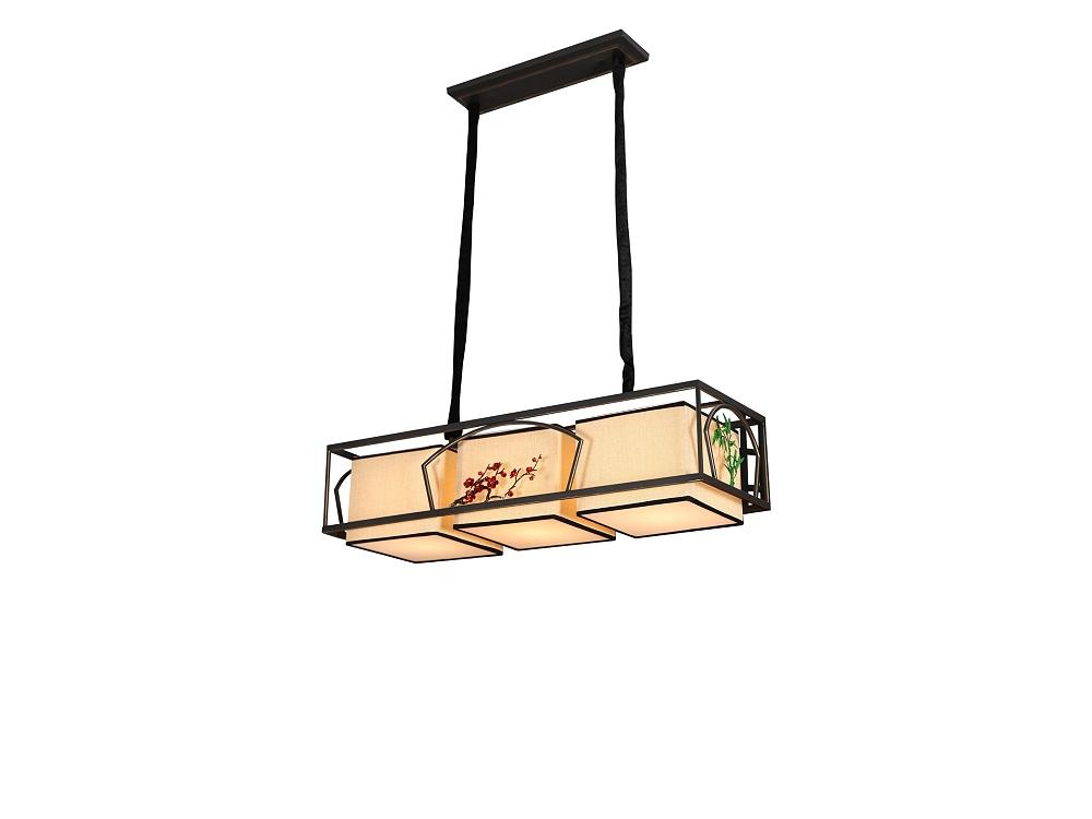 伊美特-铁艺新中式吊灯F78020吊