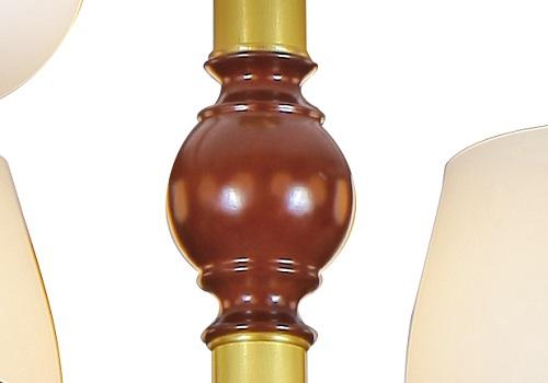 伊美特-新中式铜+木吊灯Y96037