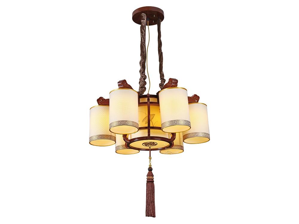伊美特-传统中式橡木吊灯M8555/6