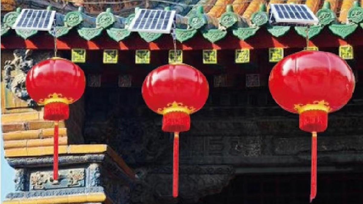 某寺庙中式灯笼灯工程案例