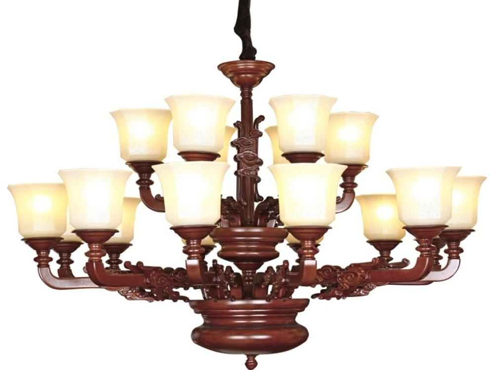 伊美特-橡木中式吊灯Y96003
