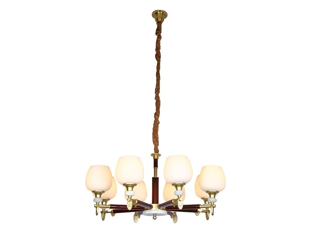 伊美特-新中式铜+木吊灯Y96030/8
