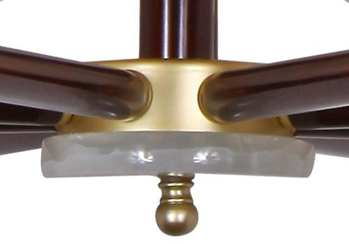 伊美特-新中式铜+木吊灯Y96030