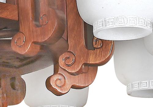 传统中式刺猬紫檀灯Q77007-12+1
