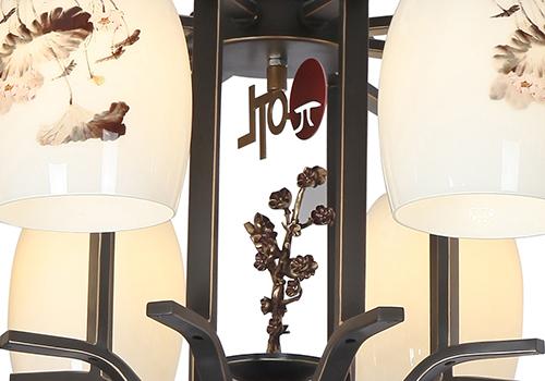 铁艺新中式吊顶灯F78022-8