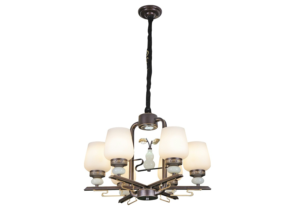 伊美特-铁艺新中式吊灯F78053