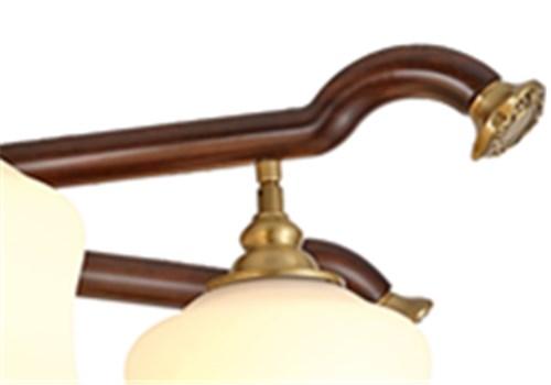 伊美特-新中式铜+木吊灯Y96051