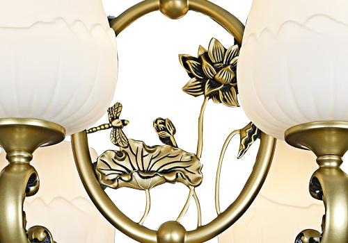 伊美特-新中式铜+木吊灯Y96036