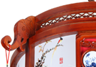 伊美特-传统中式樟子松吊灯M8533