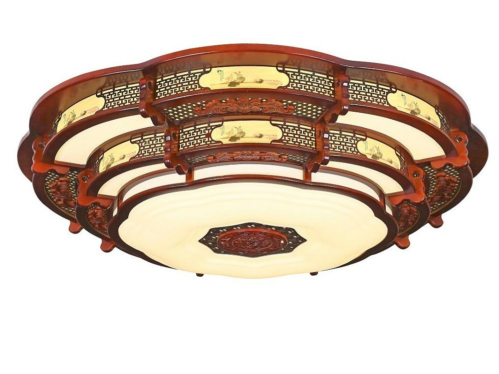 伊美特-传统中式橡木吸顶灯M7102大