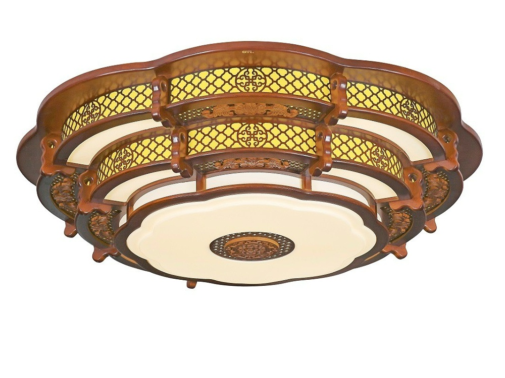 伊美特-传统中式橡木吸顶灯M7102中