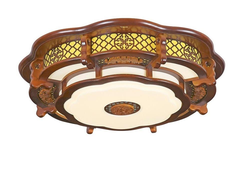 伊美特-传统中式橡木吸顶灯M7102小