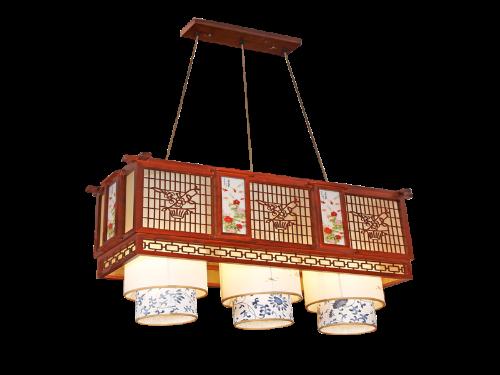 传统中式桤木吊灯茶楼灯CF8307