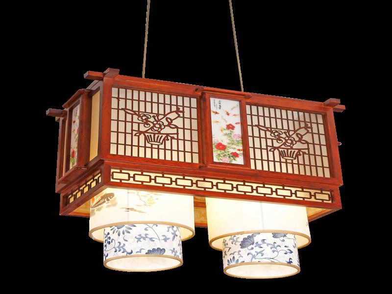 传统中式桤木吊灯茶楼灯CF8307-2