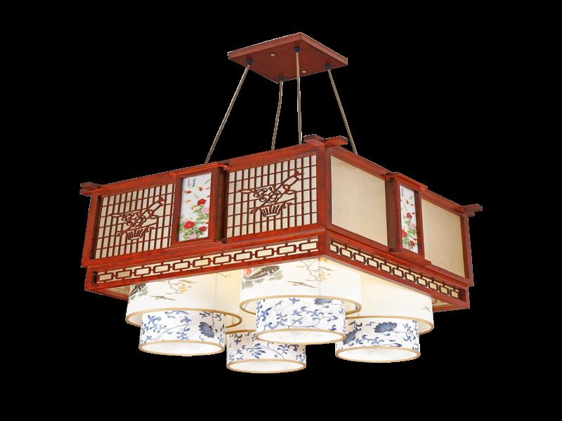 传统中式桤木吊灯茶楼灯CF8307-4