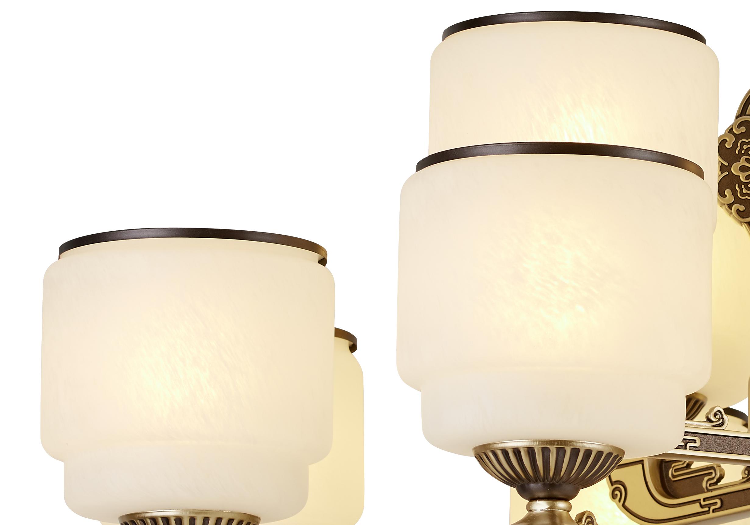 锌合金新中式吊灯客厅灯-如玉