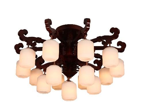 伊美特-橡木中式吊灯Y96008