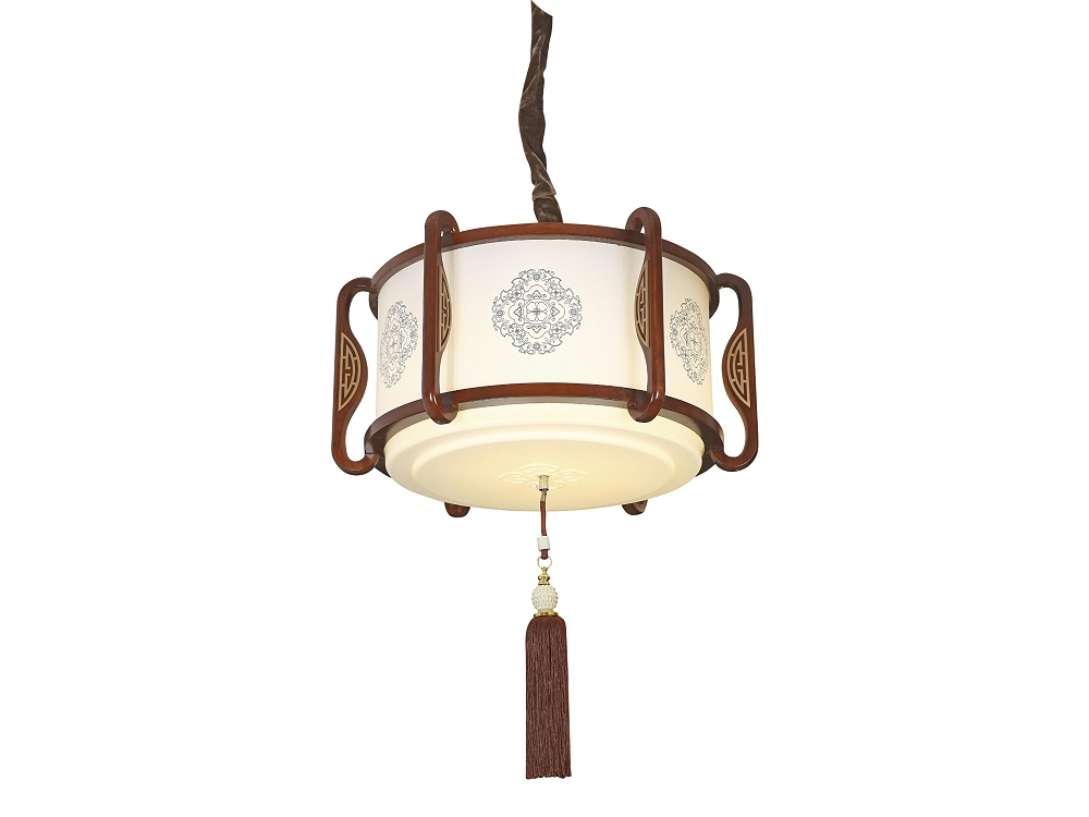 伊美特-传统中式橡木吊灯M8551